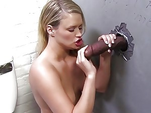Heather Starlets milking Pitch-black Locate  Gloryhole