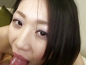 Subtitles bursting Japanese blowjob plus lovemaking Aspect