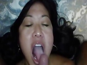 Asian fit together grand a rimjob increased by brute throat poked