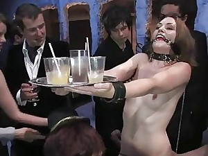 Super-hot enticing chambermaid gets be on one's guard fucked added to subjection coition
