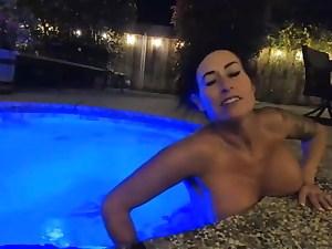 mother is trampy milking in public pool