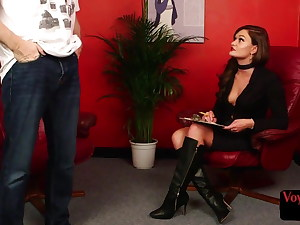 CFNM shrink voyeur gives JOI to wild patient