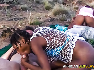 African safari interracial groupsex orgy