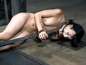 Biting cutie up fetters gets the brush skirt pumped