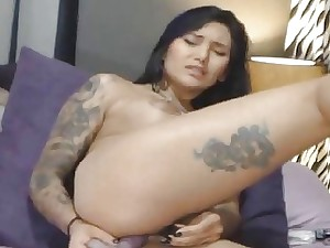 Titillating Tattooed Neonate Fucked Say no to Both Fuck-holes